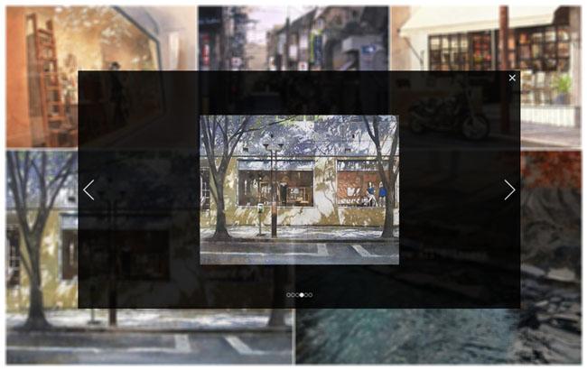 jQuery仿Facebook图片画廊全屏放大展示代码
