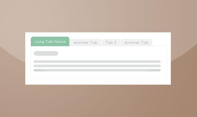 jQuery+css弹性伸缩Tabs选项卡代码