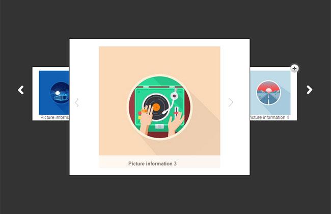 jQuery可点击放大的图片轮播代码