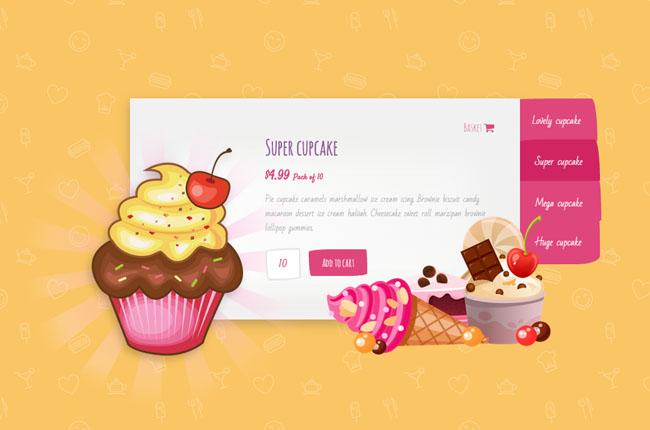 可爱甜美风格的CSS3动画幻灯片特效