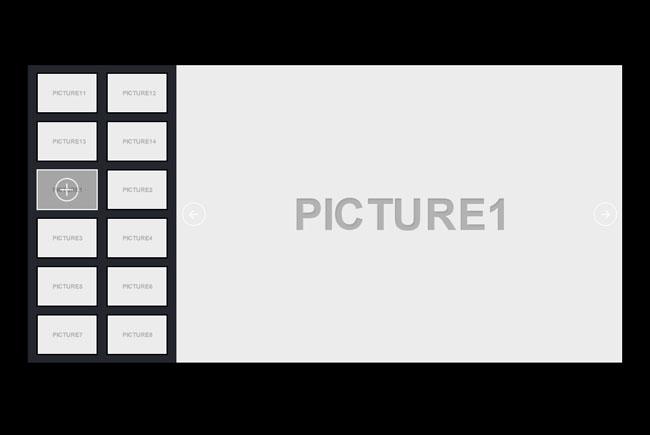 jQuery带左侧缩略图图片幻灯片自动切换特效