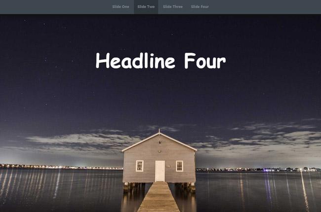 CSS3全屏响应式幻灯片切换特效