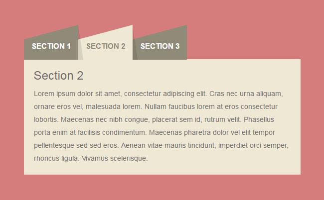 CSS3美化的Bootstrap选项卡特效