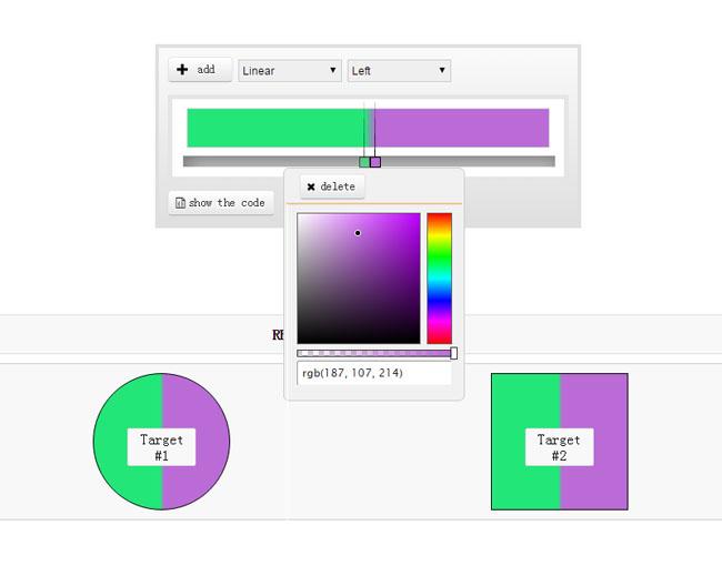 网站特效代码CSS3颜色渐变选择器jQuery代码