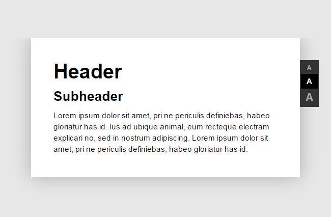 网站特效代码jQuery设置网页字体大小代码