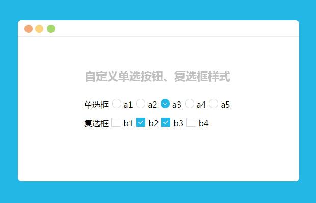 网站特效代码jQuery自定义单选按钮复选框样式动画特效