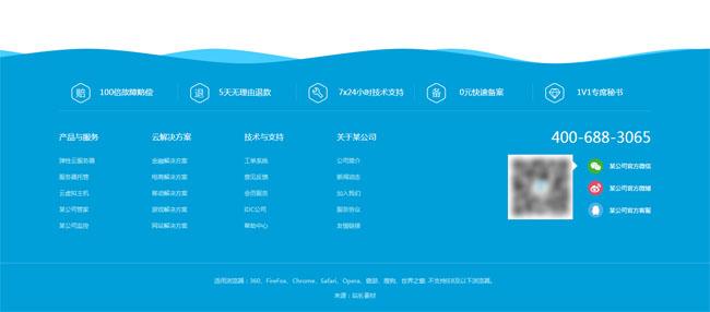 网站特效代码jQuery网站底端动态波浪背景动画特效
