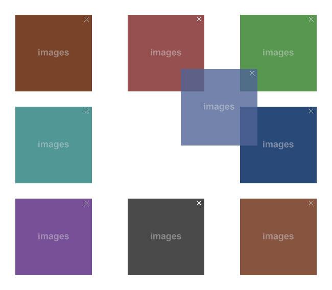 网站特效代码jQuery网格布局图片随意拖动排序代码
