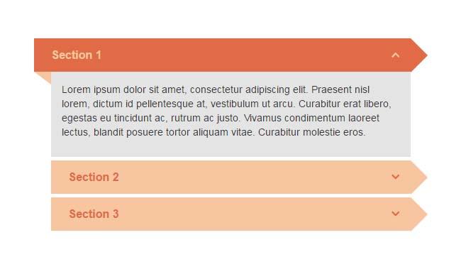 jQuery Bootstrap垂直手风琴列表切换代码