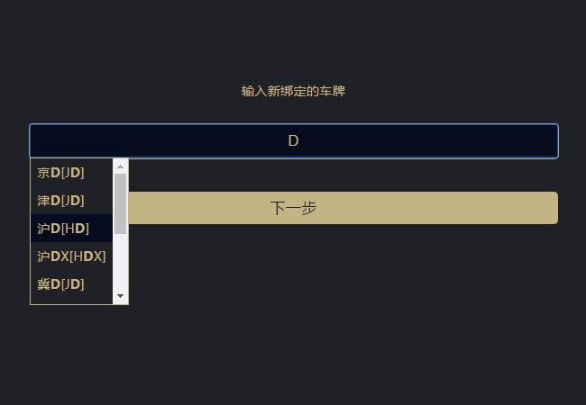 网站特效代码jQuery输入框提示绑定车牌隶属省份代码