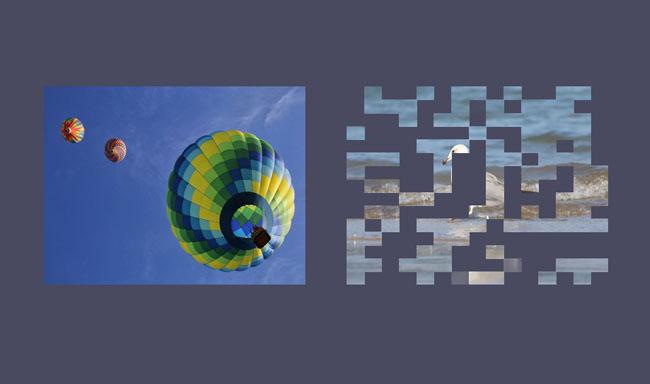 jQuery网格马赛克动画显示隐藏图片特效插件