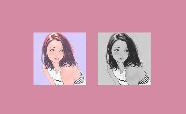 jQuery彩色图片转黑白图片网页特效代码