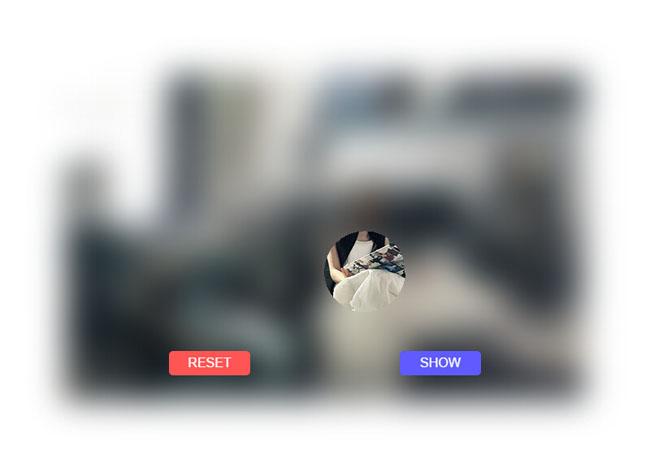 html5 canvas仿微信朋友圈讨红包看照片效果