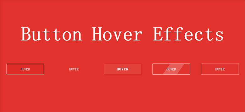 一组简单漂亮的CSS3鼠标悬停按钮动画特效