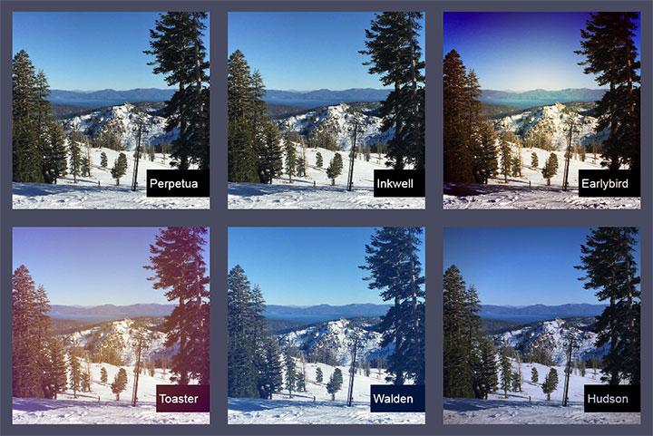 HTML5+CSS仿Instagram应用图片滤镜效果