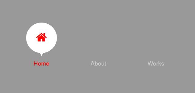 CSS3气泡动画文字导航菜单代码