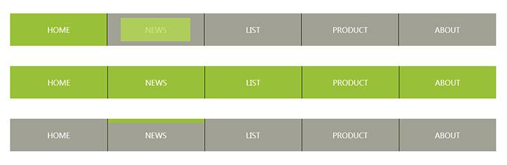 jQuery+CSS3鼠标悬停动画导航菜单特效