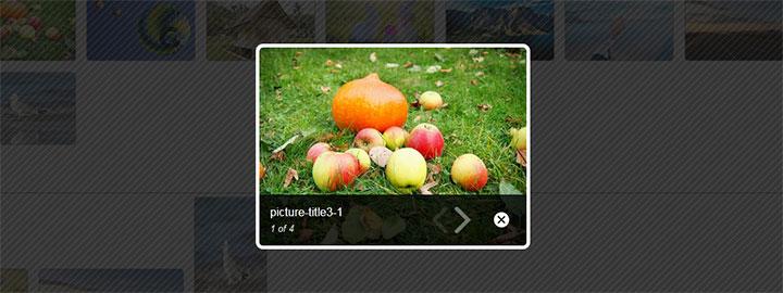 jQuery响应式图片灯箱预览效果幻灯片插件