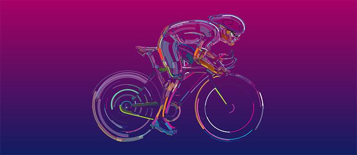 HTML5+SVG流体3D自行车骑行动画特效