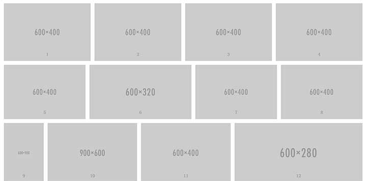 jQuery响应式自适应图片瀑布流代码