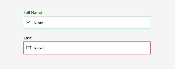 带动画效果的CSS3表单输入框验证代码