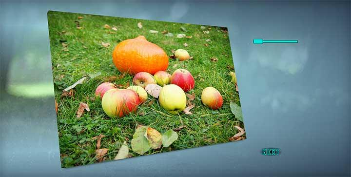 HTML5图片倾斜3D旋转轮播代码
