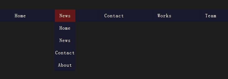 CSS3鼠标悬停动画下拉导航菜单代码