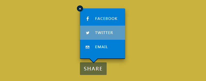 jQuery Tooltip弹出式分享按钮插件