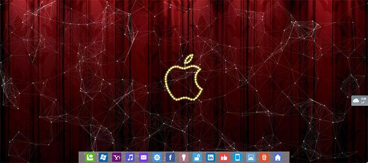 漂亮的jQuery电脑桌面界面特效
