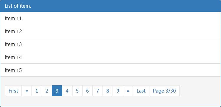 jQuery+Bootstrap动态分页插件