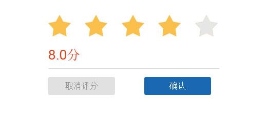 网站特效代码jQuery鼠标滑过五角星打分星级评分代码