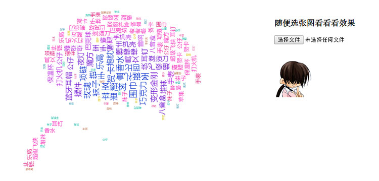 jQuery+echarts上传图片生成文字标签云代码