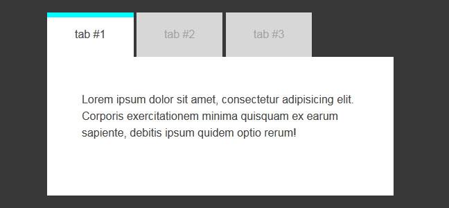 jQuery Tab菜单插件
