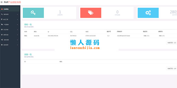 php授权验证系统源码