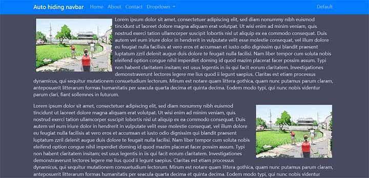 jQuery基于Bootstrap顶部浮动导航菜单代码