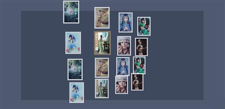 jQuery 3D立体视觉响应式图片墙动画特效