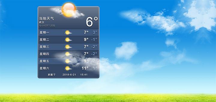 jQuery仿苹果手机天气预报界面代码