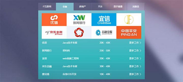 jQuery招聘网站企业职位列表TAB选项卡切换代码
