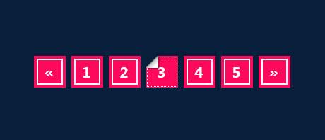 精美的CSS3折角分页样式