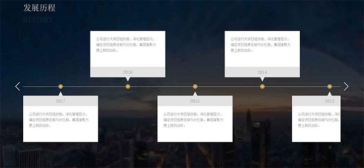 jQuery大气发展历程时间轴样式代码