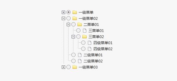 jQuery多级折叠展开树形菜单代码
