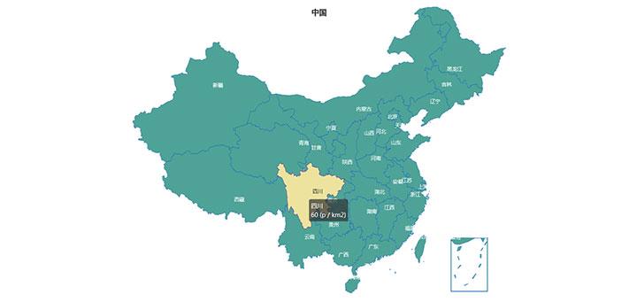 jQuery+html5基于echarts.js中国地图点击弹出下级城市地图代码