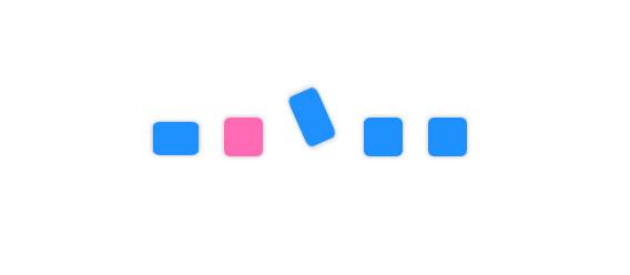 CSS3方块跳动网页loading加载动画特效