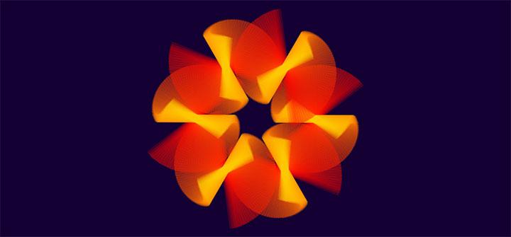 漂亮的CSS3花朵变换动画特效