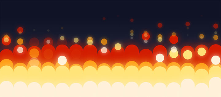 网站特效代码jQuery CSS3发光气泡升高动画特效