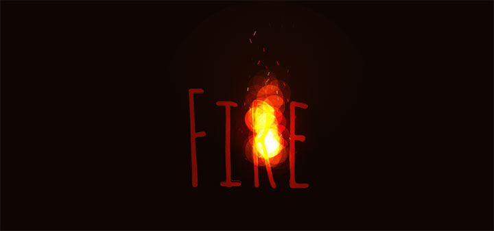 HTML5 Canvas跟随鼠标移动的燃烧火焰动画特效
