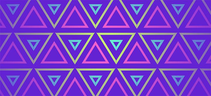 HTML5 SVG多彩三角形矩阵动画特效