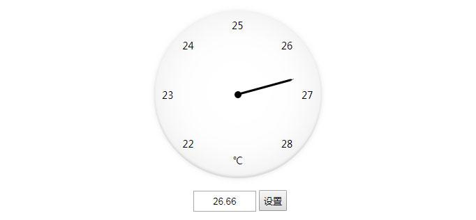 jQuery+CSS3可自定义设置数值圆形温度计代码