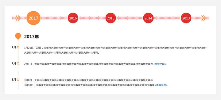 jQuery水平滚动企业发展大事件时间轴代码