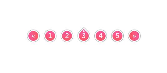创意CSS3鼠标悬停分页按钮动画特效